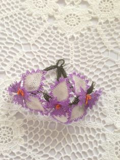 Turkish Oya Lace Bouquet of Flowers by AnatolianCollections, $25.50