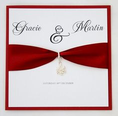 snowflake wedding invitation handmade Handmade Wedding Invitations