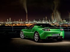 I am not a big fan of Green on cars but I like this one. it also helps that I like this car alot! The 2012 Tesla roadster is a very nice car and hopefully it is in my future!