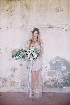 ethereal wedding dress by For Love & Lemons