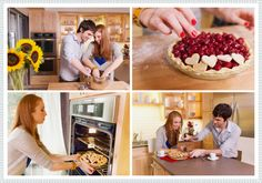 Love in the Kitchen: A Baking Engagement Shoot
