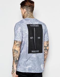 ASOS Longline T-Shirt With Block Back Print