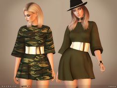 Sims 4 CC's - The Best: toksik - Oversize Dress