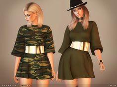 Sims 4 CC's - The Best: toksik - Oversize Dress
