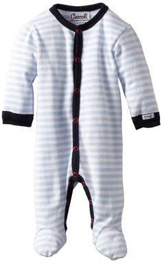 Coccoli Baby-Boys Newborn Summer By The Sea Classic Footie, Blue, 6 Months -