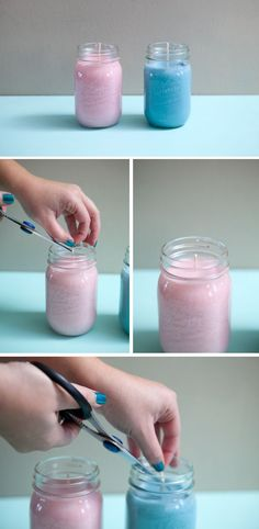 "One pinner said: ""A tutorial on making your own mason jar candles! The best part is that the woman gives very thorough instructions, as well as cleaning tips!"" Well I think (hi I'm Emma blues no one steal this from me!) the tutorial on making Vicks vapor rub should be made inside the mason jars and make Vicks vapor rub candles #DIY Easy DIY Ideas, Craft Ideas"