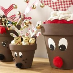 Recycle Reuse Renew Mother Earth Projects: how to make Seasonal Clay Pot Flower People