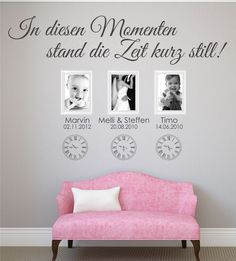 In diesen Momenten stand die Zeit still mit individuellen Namen und Daten – Jetz… In these moments, time stood still with individual names and dates – now your wall design www.wandtattoo-ho … to order