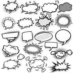 Set Empty Comic Bubbles (royalty free) 7 stock vector – Graffiti World Cartoon Speech Bubble, Comic Bubble, Graffiti Cartoons, Graffiti Art, Cartoon Icons, Cartoon Drawings, Cartoon Characters, Letras Comic, Banners