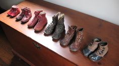 Childs old shoe collection