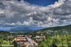 Sleeping Giant rests under a blanket of clouds in Steamboat Springs, Colorado