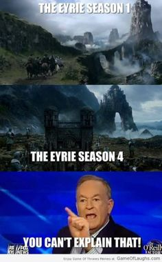 The Eyrie got a makeover - Game Of Thrones Memes Got Game Of Thrones, Game Of Thrones Funny, Valar Dohaeris, Valar Morghulis, Winter Is Here, Winter Is Coming, Got Memes, Funny Memes, Game Of Trones
