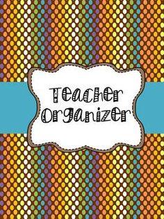 Brown Polka Dots Classroom Organization Pack $8