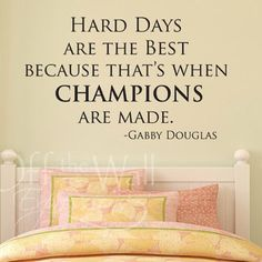 A great quote for your favorite gymnast or hard working sports fan just in time for the Summer Olympics!