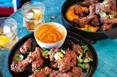 Baked Spicy Chicken Drumettes with Romesco