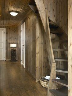 Dining to master loft stair. Beautiful Kitchen Designs, Beautiful Kitchens, Adobe Haus, Colorado Ranch, Cabin Chic, Loft Stairs, Cabin Kitchens, Attic Design, Cabin Interiors