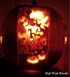 Pumpkin Carving of halloween night