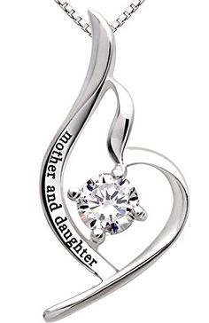 """ALOV Jewelry Sterling Silver """"mother and daughter"""" Pendant Necklace for Birthday, Mother's day,Christmas Gift - READ REVIEW @ http://www.ilikeboutique.com/boutique/alov-jewelry-sterling-silver-mother-and-daughter-pendant-necklace-for-birthday-mothers-daychristmas-gift/?a=8061"""