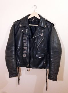 80s Vintage Schott Perfecto Leather Motorcycle by OddLaundry, $295.00