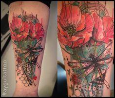 #watercolor #tattoo #aygultattoo #акварель #татуировка