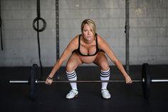 Apesar da gravidez avançada, a atleta Lea Ellison, 35 anos, não quis mudar sua rotina de atleta.