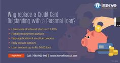 Why replace a Credit Card outstanding with a Personal Loan?? Get lowest interest rate @11.29%, Flexible repayment & Loan amount up to Rs. 50 lakh.