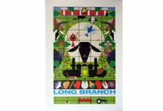 Long Branch Poster    Open Edition Poster Issued: 1989 paper size: 18 by 24″  $30.00