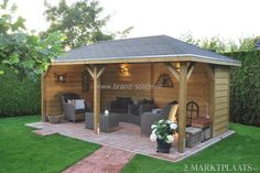 This really is fantastic what these guys did with this design and plan. What a really good idea for a Pergola, Diy Gazebo, Patio Gazebo, Backyard Patio, Backyard Landscaping, Outdoor Rooms, Outdoor Gardens, Outdoor Living, Party Shed