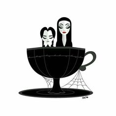 An Wednesday & Morticia Addams Art Edit..