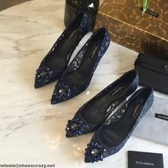 Docle & Gabbana Crystal Lace Pumps S/S 2017