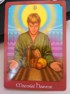 Material Harvest is connected to financial security Material Harvest, is the card drawn today from The Psychic Tarot Oracle Deck by John Holland. It is the card of the suit physical from the Minor Arcana. Angel Guidance, Spiritual Guidance, Spiritual Enlightenment, Spiritual Awakening, Oracle Tarot, Healing Words, Card Drawing, Doreen Virtue, Divine Light