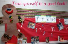 The Centered School Library: Winter Bulletin Board Ideas- Treat Yourself to a Good Book