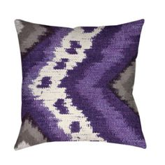 GIFT GUIDE FOR THE: FREE SPIRIT- Ikat Throw Pillow (purple, gray, grey, white, plum) gypsy/boho chic