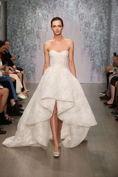 Stunning wedding dresses we love, including this high-low gown from Monique Lhuillier