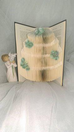 wedding cake folded book by MandasMagicalMakes on Etsy