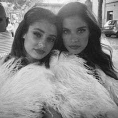 Taylor Marie Hill and Sara Sampaio