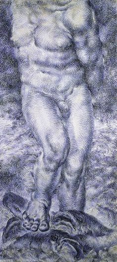 Sin título, 1993. Pastel sobre papel, 215 x 99 cm.