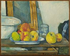 Still life with open drawer 1877-79 Cezanne Oil on canvas Orsay Museum