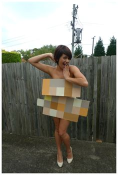 Day 229: Pixelated Nude/ #naked #costume. Theme Me is a blog that follows a personal challenge to dress to a different theme every day for a whole year.