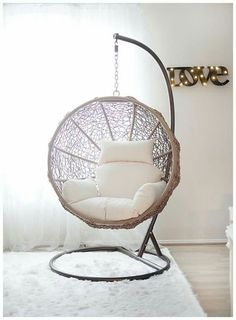Hanging Swing Chair for Bedroom. Hanging Swing Chair for Bedroom. Indoor Swing Chairs Inspirations for Your Home Decor Hanging Hammock Chair, Swinging Chair, Chair Swing, Indoor Hanging Chairs, Bedroom Swing Chair, Patio Swing, Outdoor Swing Chair, Outdoor Dining, Bed Room