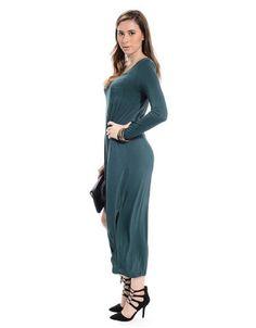 Show Off Slit Midi Dress