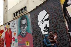 AP PHOTOS Preserving a revolution's graffiti