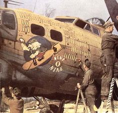 WWI Song Over There. Similar to the propaganda songs of WWII, intended to inspire the nation. Nose Art, Military Art, Military History, Ww2 History, Ww2 Aircraft, Military Aircraft, The Mighty Eighth, Aircraft Painting, Airplane Art