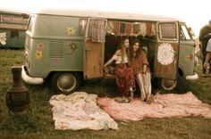 "cinema hippies from ""woodstock"" - van is nice"
