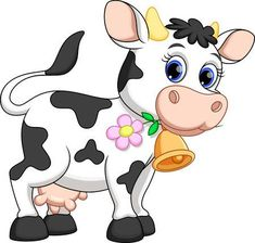 Illustration about Illustration of cute cow cartoon. Illustration of flower, blue, life - 40509265 Cartoon Cartoon, Cow Cartoon Images, Cow Cartoon Drawing, Cow Drawing, Cartoon Photo, Zebra Cartoon, Cartoon Mignon, Cute Cows, Cow Art