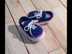 Tênis Vans de crochê - tamanho 10,5 cm - YouTube