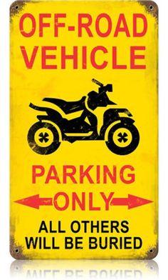 Off Road Parking Vintage Metal Sign