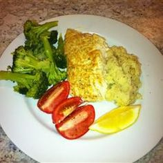 Broiled Grouper Parmesan Recipe - my husband and daughter made this for me. It's really easy and delicious! We used tilapia instead of grouper.