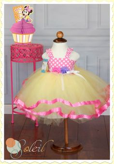 Baby Minnie Mouse Party Tutu Dress 1st Birthday by SCbydesign, $64.99