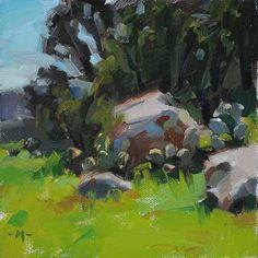 "Daily Paintworks - ""Boulder Study"" - Original Fine Art for Sale - © Carol Marine"